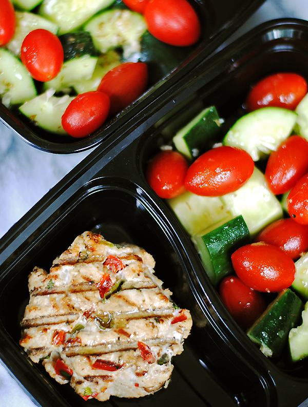 ground turkey burgers with greek salad