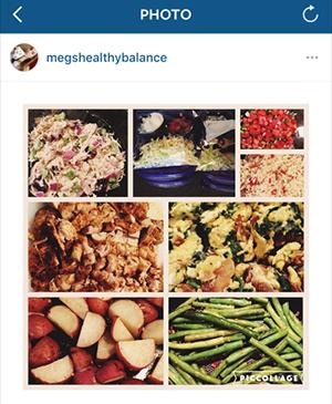 Meg's healthy balance