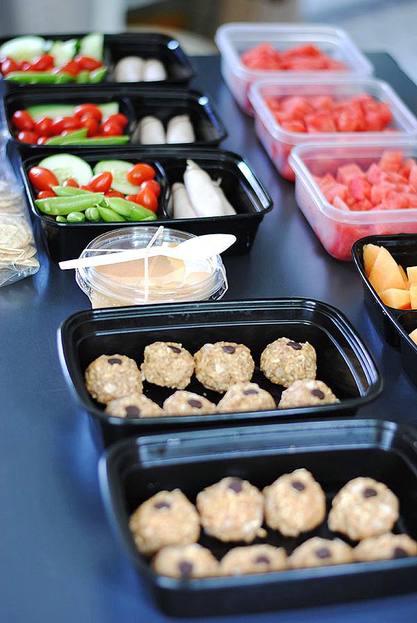 food prep for road trip