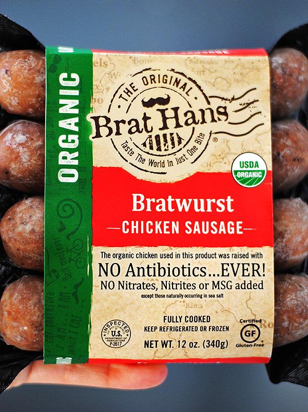 organic brat hans sausages