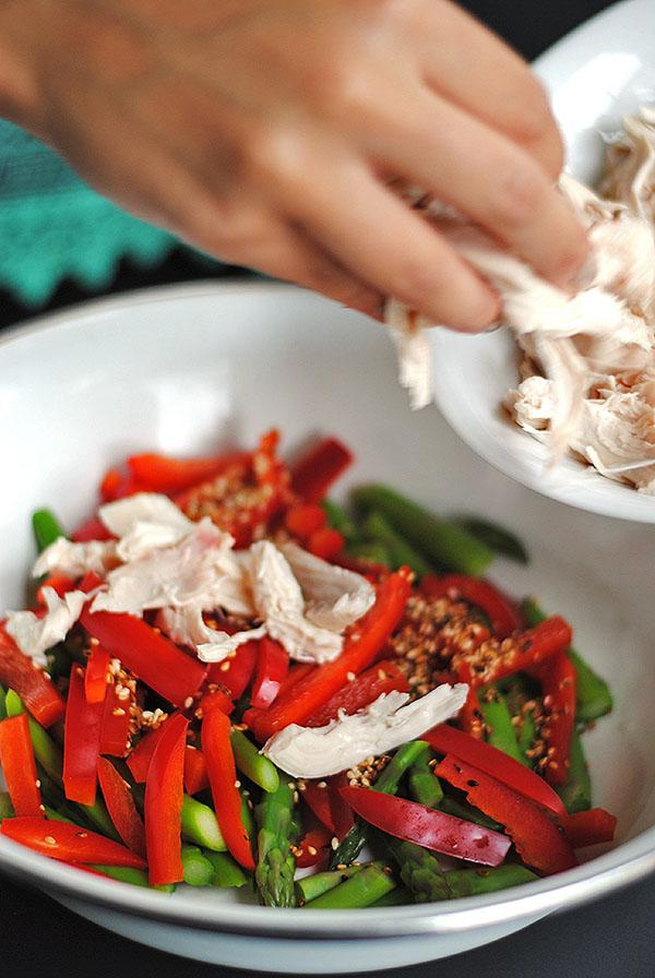 making chicken salad