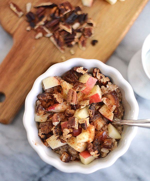 Tim's Porridge with Apples, Dates and Pecans