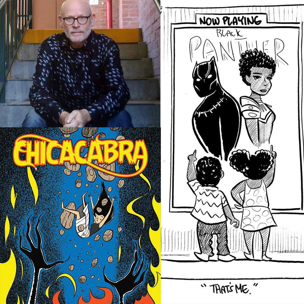Tom Beland - Tom Beland is a comic book artist/writer best known for his autobiographical comic series True Story Swear To God.Beland is from Napa Valley, California, where he used to work as a cartoonist for a local newspaper.Beland has also worked in other comics. He is the creator of the iconic Black Panther 'That's Me' variant cover, and he also wrote a Fantastic Four miniseries where the heroes come to Puerto Rico to investigate the mystery of the Chupacabra. In 2014, he wrote and drew a graphic novel for IDW called Chicacabra, about a girl (inspired by his wife) who get's a Chupacabra merged with her body. Chicacabra is currently being adapted for a television series.