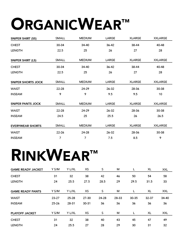 Firstar - Size Guide - Organic Wear and Rinkwear.png