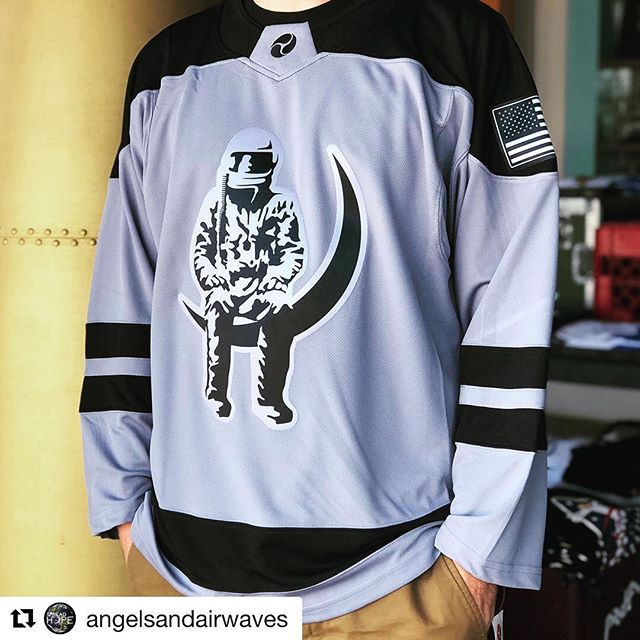 Stoked about our partnership with @angelsandairwaves.. these beauties on sale now! #getyours #hockeyjersey #custom #vibranttwill