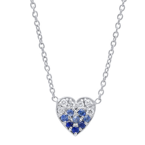 Audrey blue sapphire diamond heart pendant minted jewelry audrey blue sapphire diamond heart pendant aloadofball Image collections