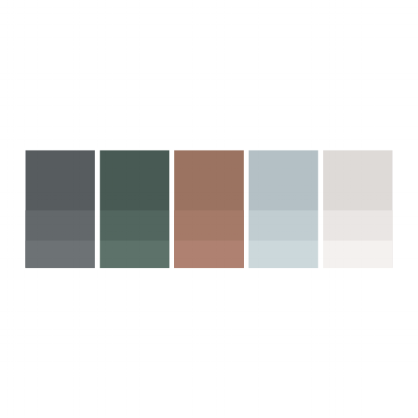 Minimalist color palettes thoughtfully crafted by JP | Designs