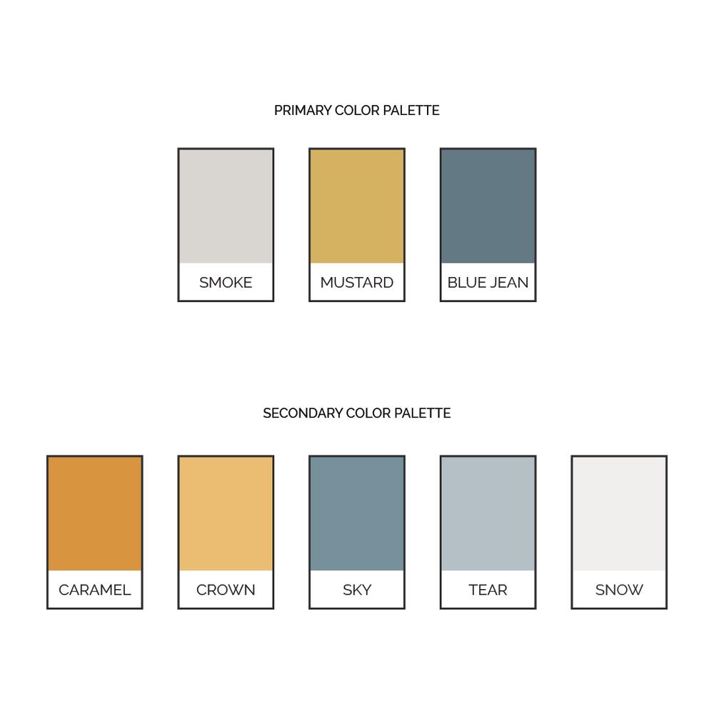 Implement Brand Color Palette   Categorize Colors