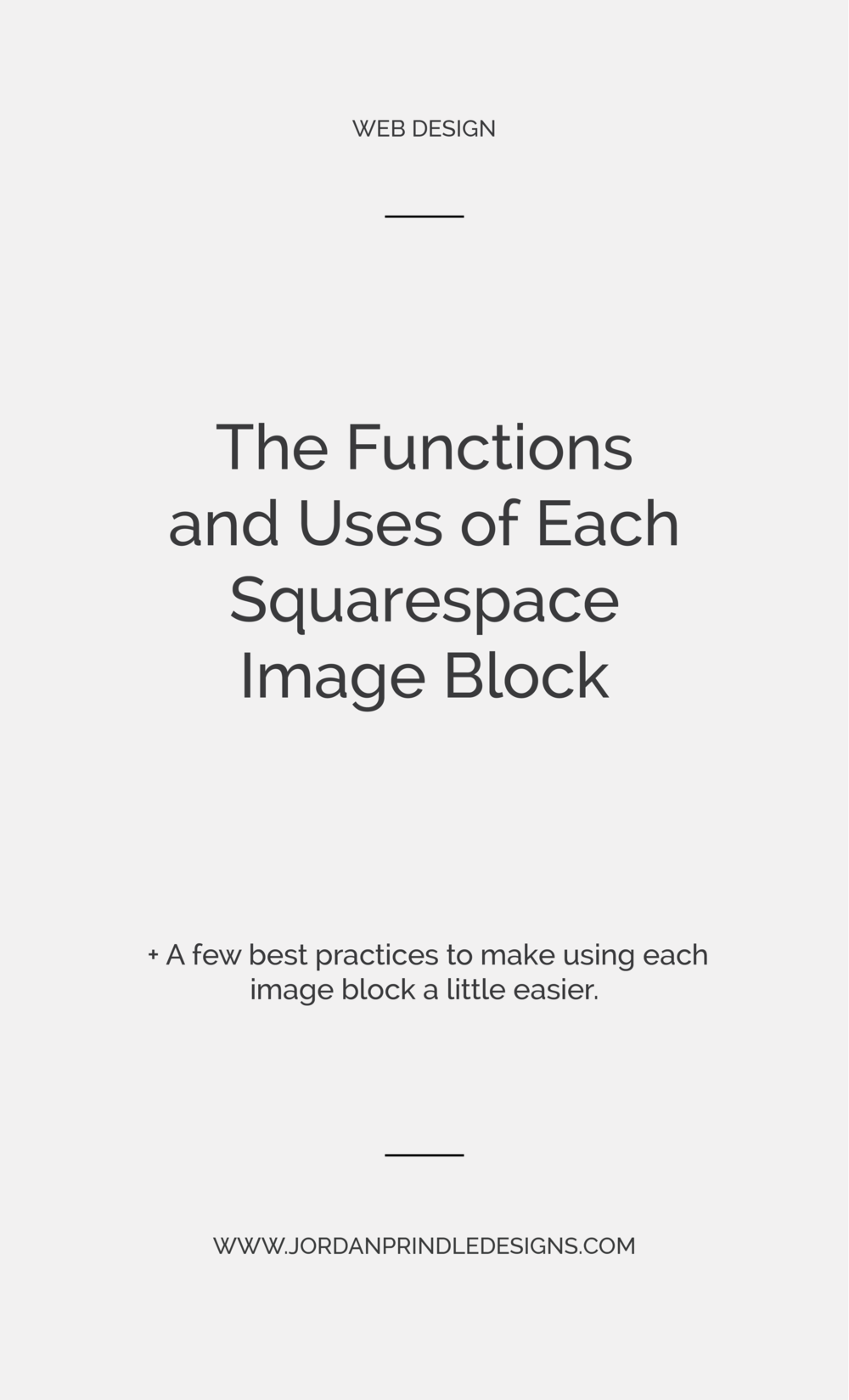 The Functions and Uses of Each Squarespace Image Block | Squarespace tip of the day: how and when to actualy use the six squarespace image blocks. Read the full post at www.jordanprindledesigns.com #branddesigner #squarespacedesigner #squarespacetips
