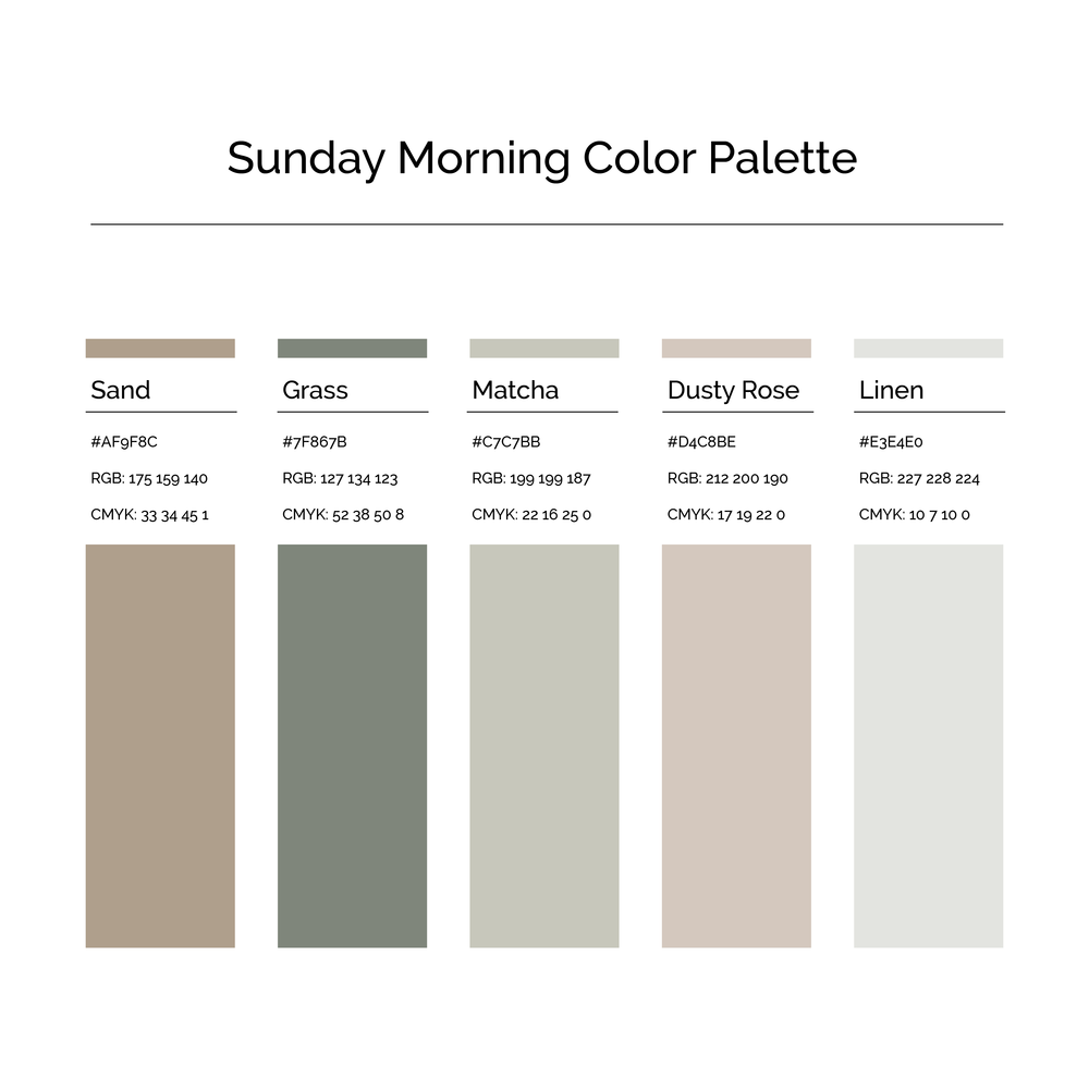 15 More Color Palettes | Sunday Morning Color Palette
