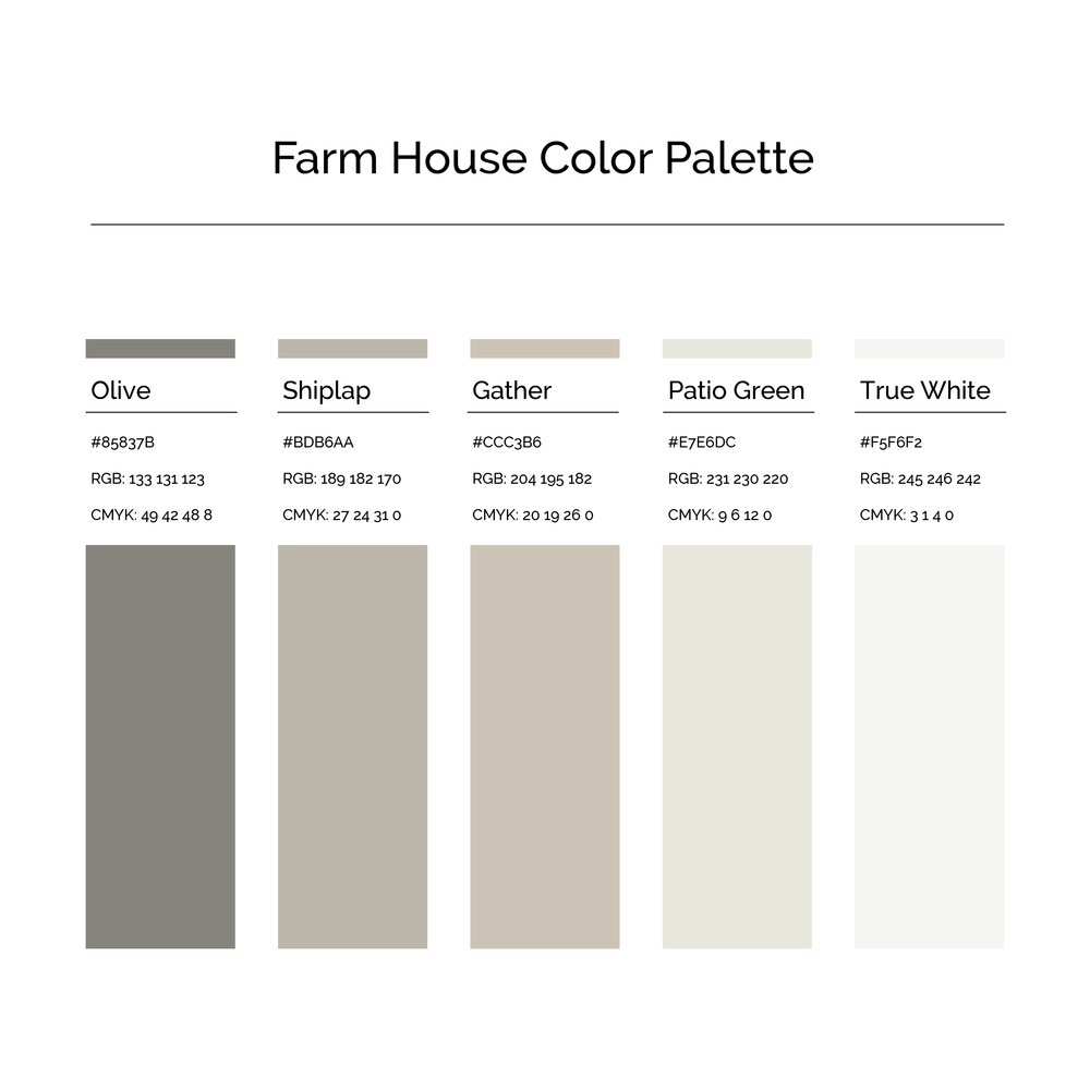 15 More Color Palettes | Farm House Color Palette