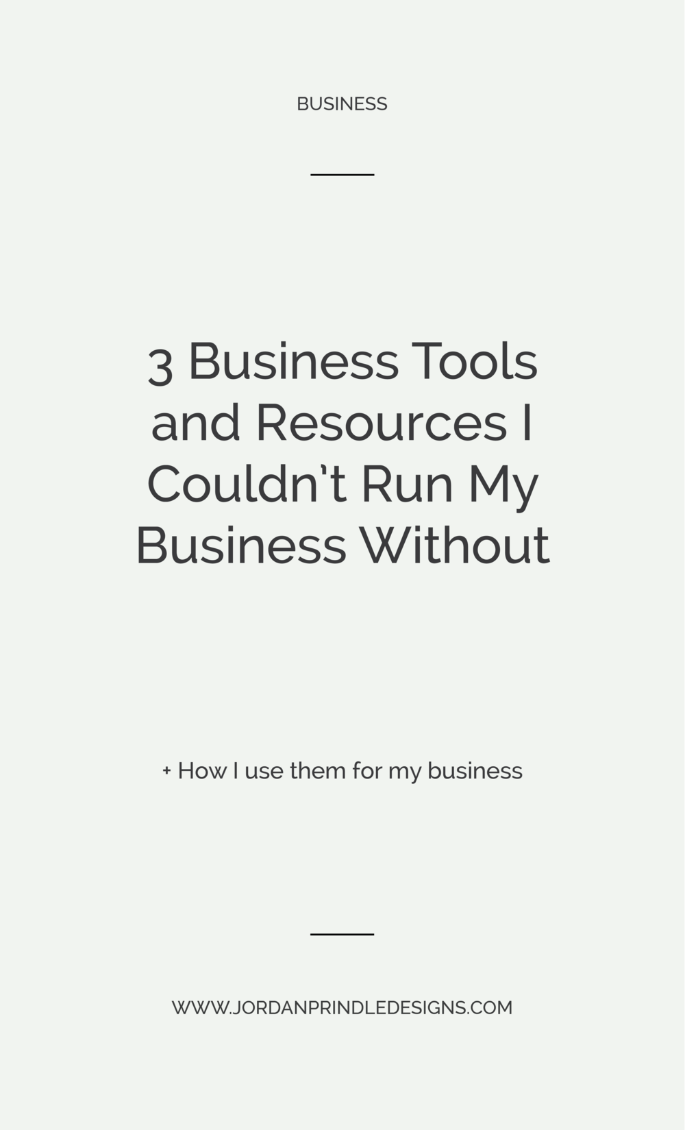 3 Business Tools I Couldn't Run My Business Without | From project management tools to client work to daily to-do's read the full post on www.jordanprindledesigns.com #branddesign #businesstips #smallbusiness