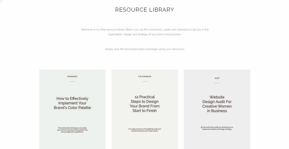 Inside Jordan Prindle Designs free resource library
