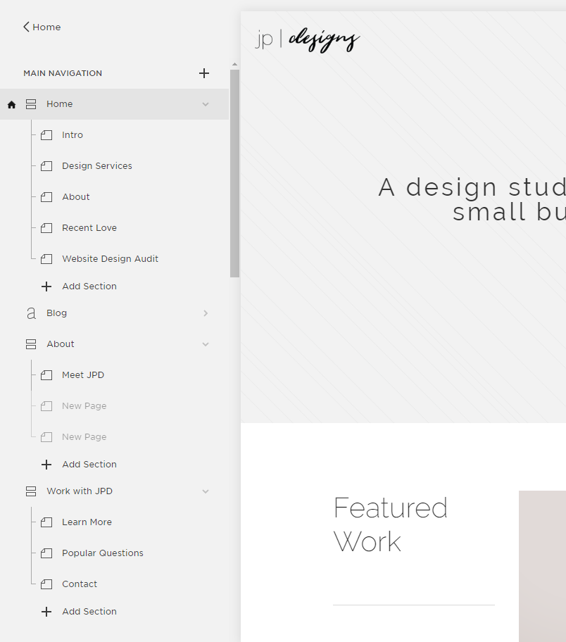 Creative Ways to Customize Your Squarespace Website | Index Pages in Squarespace