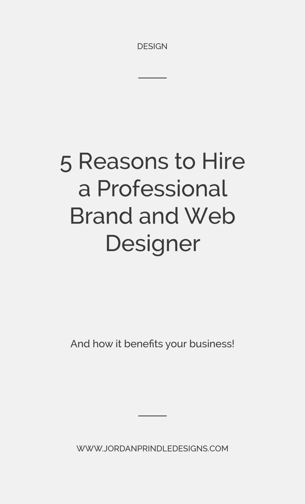 5 Reasons to Hire a Professional Designer | Are you tired of logo templates and attracting clients that aren't exactly ideal? Well, it may be due to bad design! Keep reading at www.jordanprindledesigns.com #graphicdesign #designtips #branddesigner