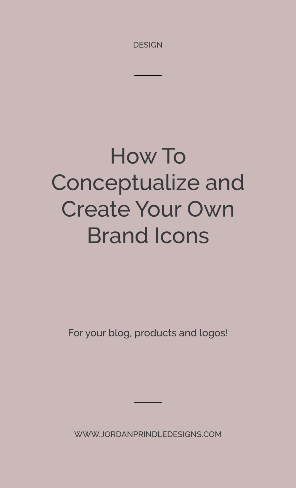 How to Conceptualize and Create Icons | In order to design icons for your creative business there are a few key steps you'll want to take from conceptualizing ideas to software resources. Read the full blog post at www.jordanprindledesigns.com #designtips #branding #smallbusinessbranding