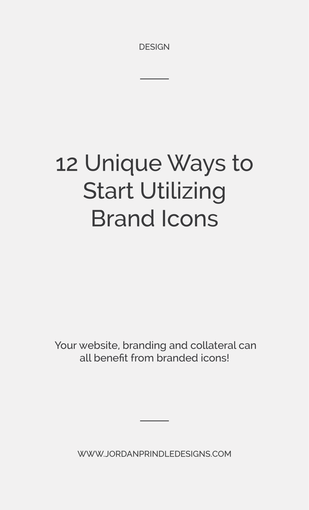 12 Ways to Utilize Custom Brand Icons | Whether you offer newsletters, blog categories or content upgrades... icons are a great way to diversify your brands visual identity. Read the full list at www.jordanprindledesigns.com #brandicons #icondesign #graphicdesigntips