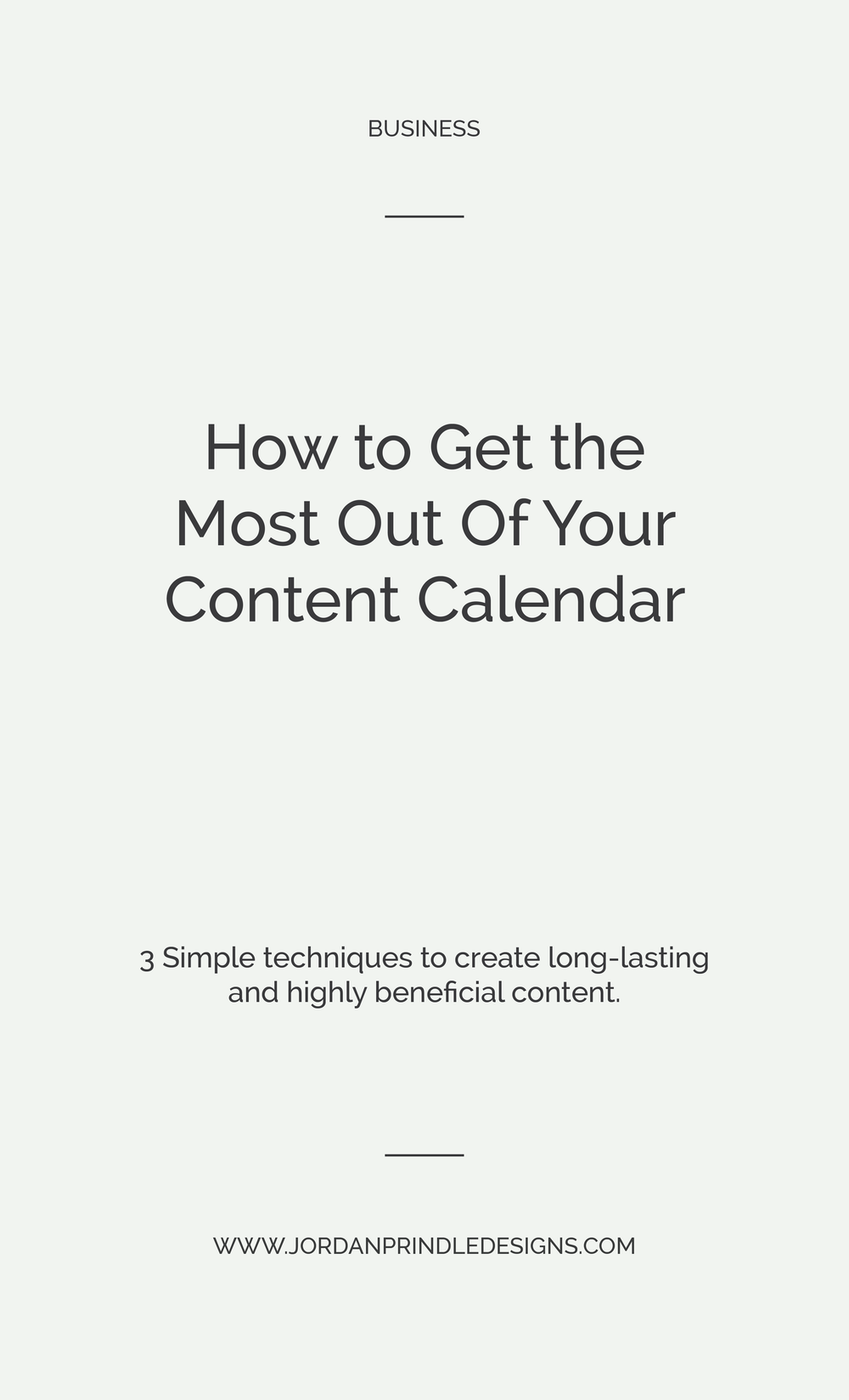 How to Get the Most Out Of Your Content Calendar | Blogging and content marketing are vital to any small business owner. In this recent post, I'm sharing how you can blog successfully with ease. Keep reading: www.jordanprindledesigns.com #blogging #smallbusiness #contentmarketing