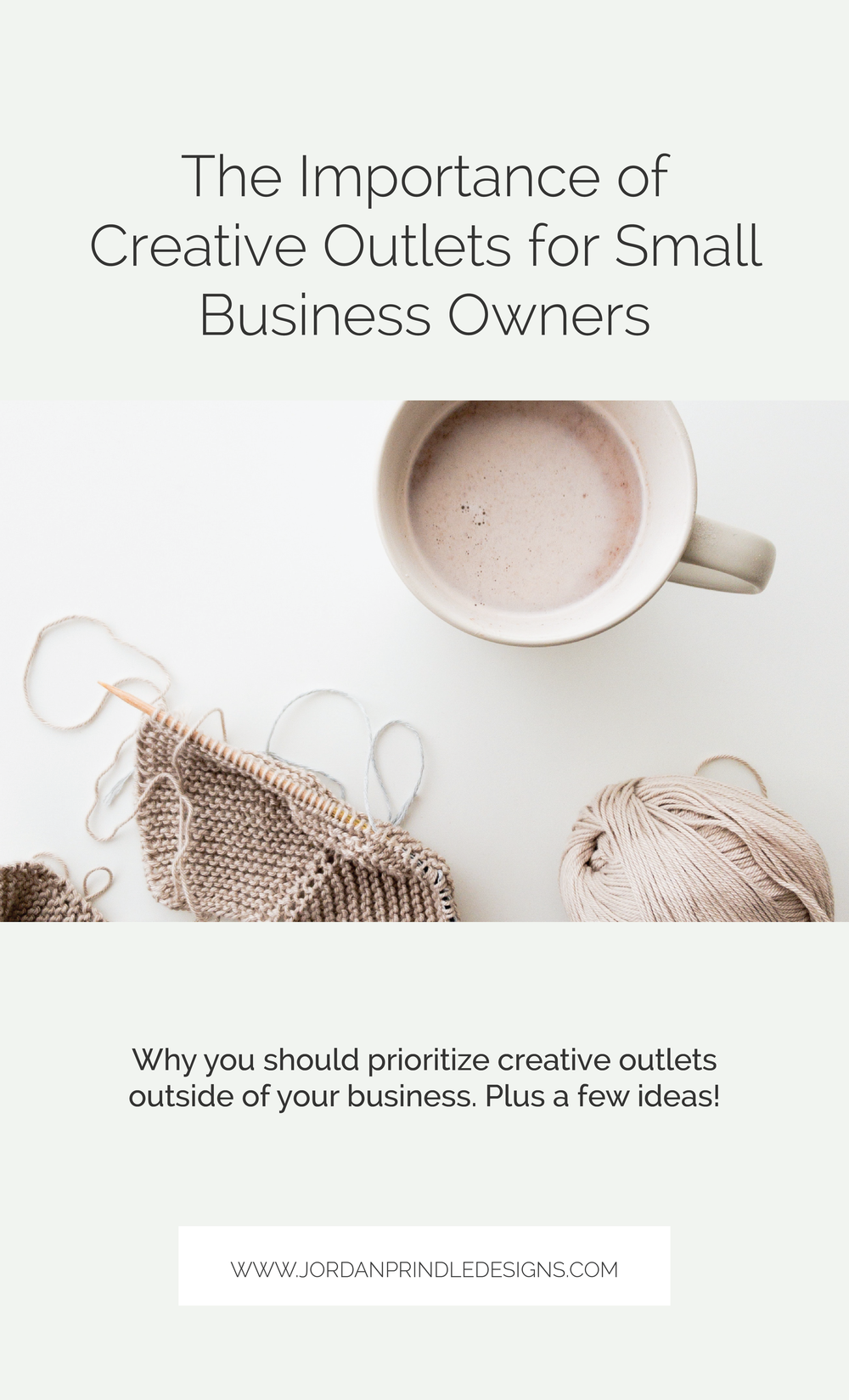 The Importance of Creative Outlets for Small Business Owners | As a creative entrepreneur your creativity is often tied up in your business. Today, I want to share why I think you need to pursue creativity elsewhere. Keep reading at www.jordanprindledesigns.com #smallbusinesstips #creativity #creativeentrepreneurs