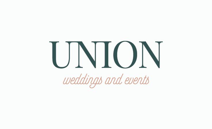 Union Weddings and Events | Primary Logo | Custom Logo Designed by www.jordanprindledesigns.com #logodesign #logovariations #logodesign