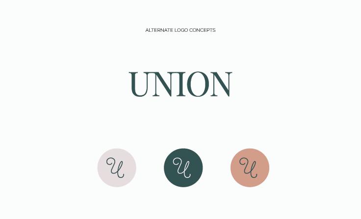 Union Weddings and Events | Logo Variations | Custom brand design created by www.jordanprindledesigns.com #logodesign #custombranding #alternatelogo