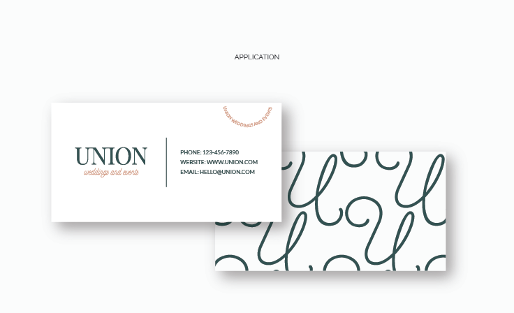 Union Weddings and Events | Business Card | Custom Business Card Design by www.jordanprindledesigns.com #businesscards #logodesign #branddesign