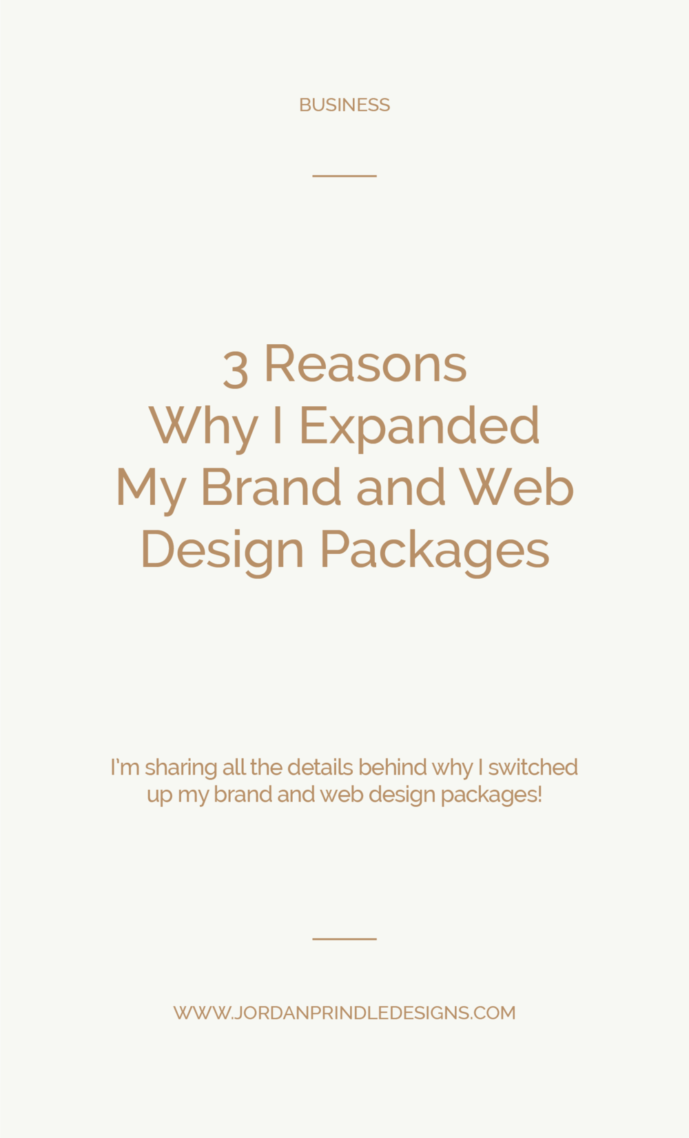 3 Reasons Why I Exanded my Design Packages | I found my inner Rory Gilmore and made my pro-con lists, considered my target audience and made the leap! Read all about it on www.jordanprindledesigns.com