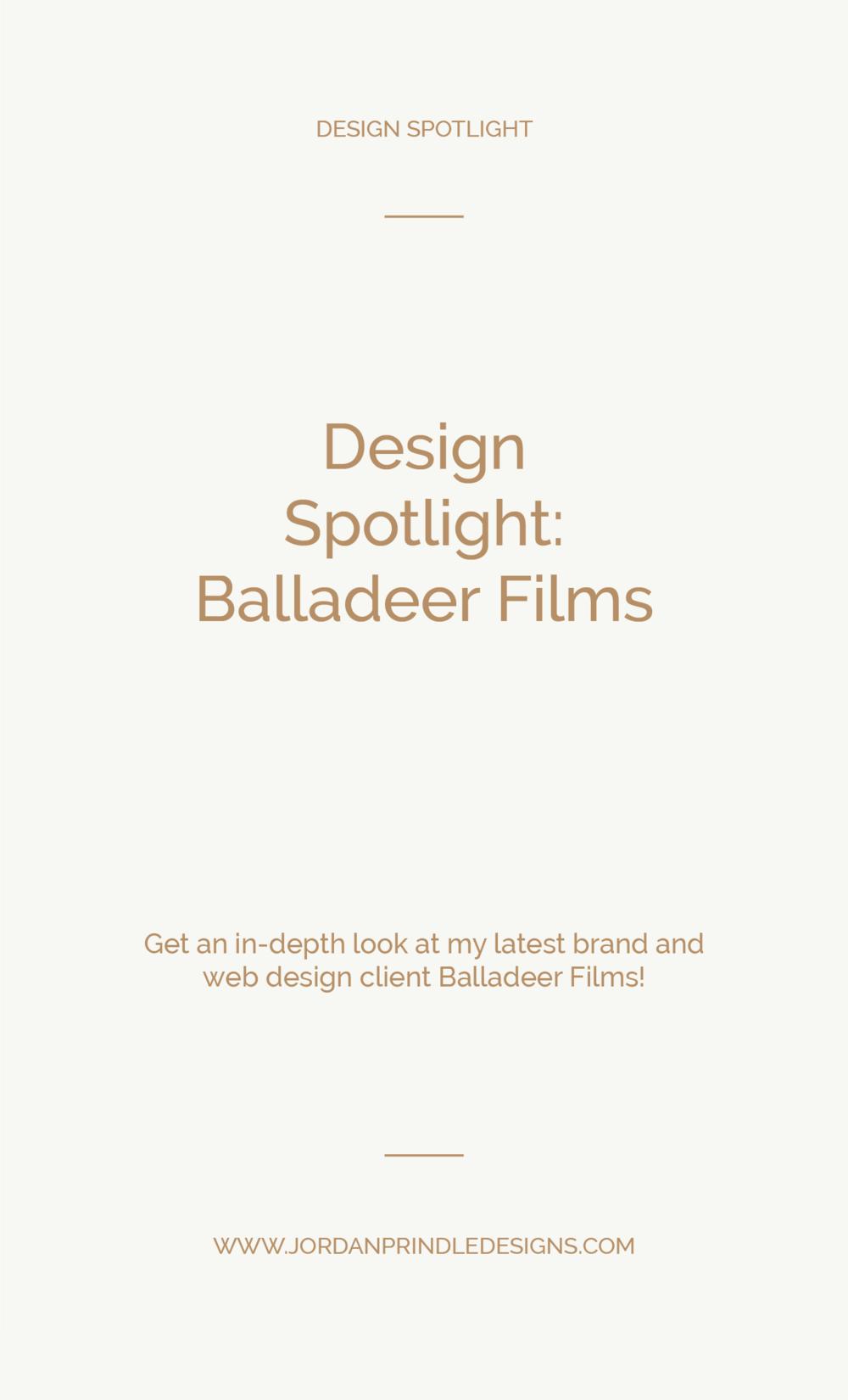 Design Spotlight Balladeer Films | A new brand and web design project completed for Balladeer Films by www.jordanprindledesigns.com #squarespacedesign #branddesigner #newwebdesign