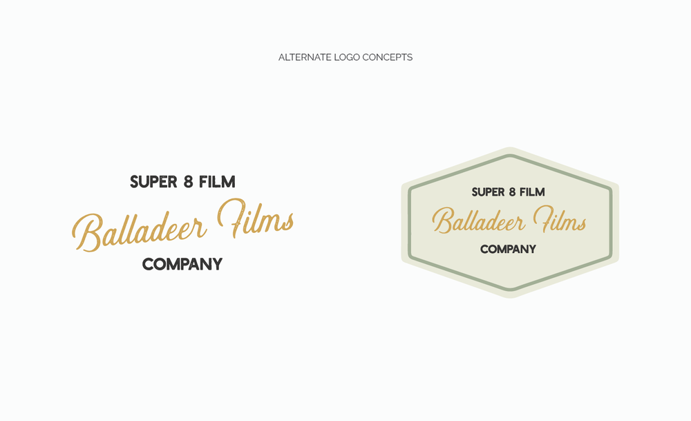 Alternate Logo Concepts for Balladeer Films by Jordan Prindle | Designs