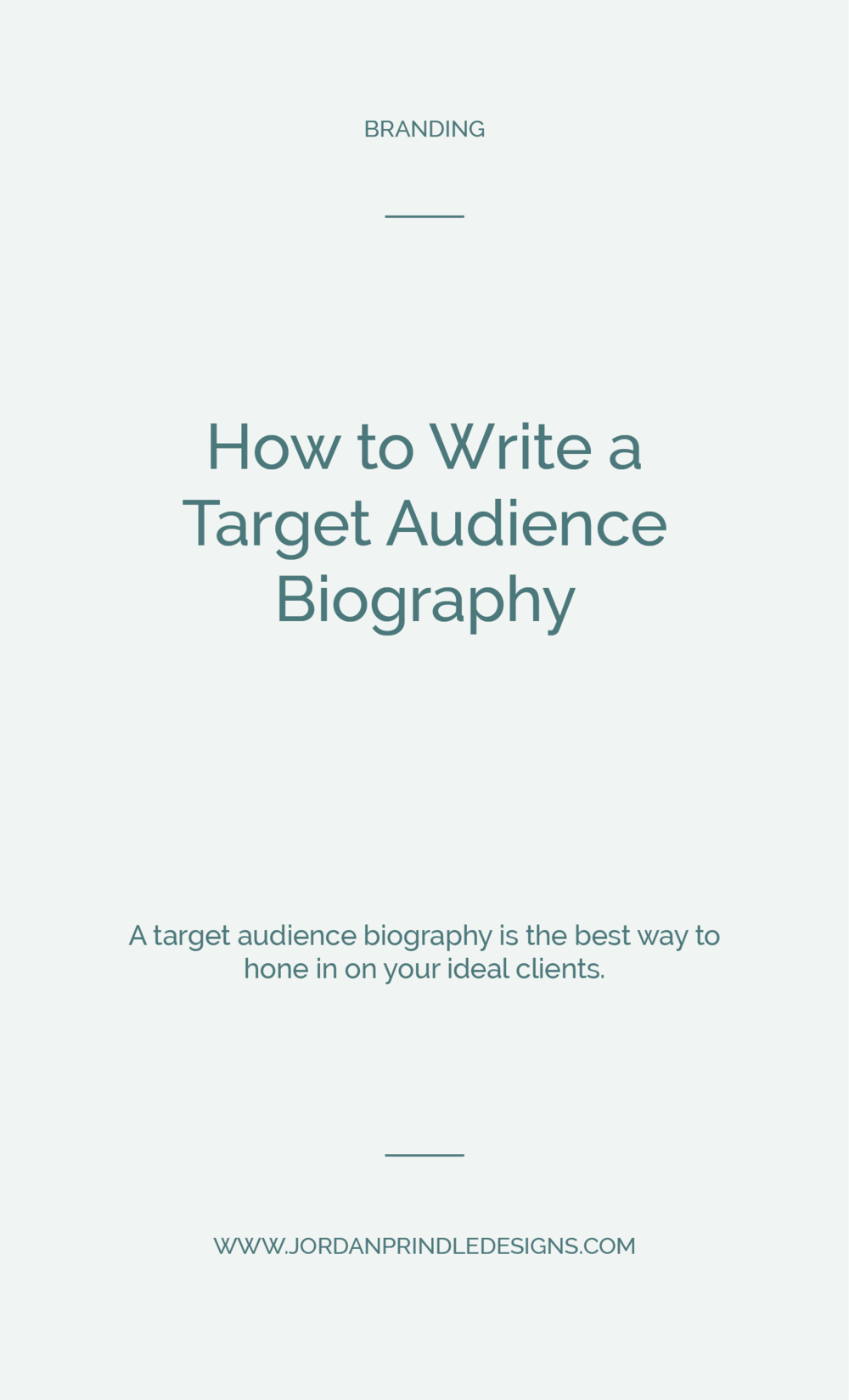 How to Write a Target Audience Biography | Stop yelling into the void hoping something sticks with someone. Understand your audience and learn how to create content and products that they actually want with this simple trick