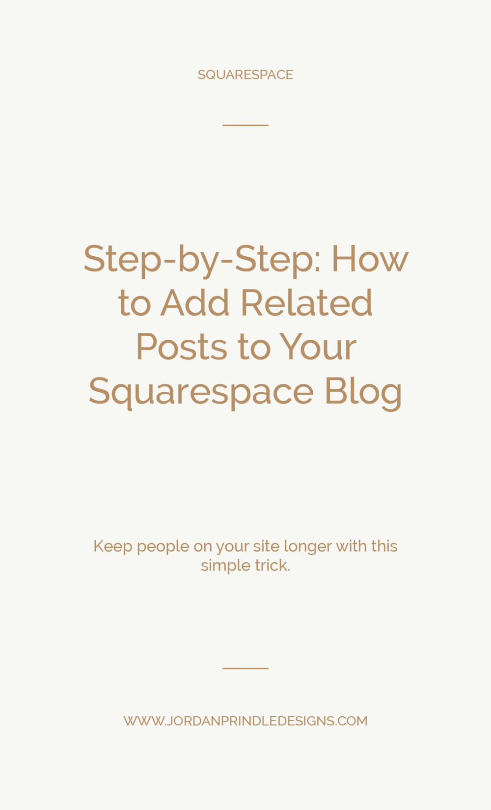 Step-by-Step: How to Add Related Posts to Your Squarespace Blog | A simple to follow #squarespacetutorial to add related posts to your Squarespace blog. Keep reading at www.jordanprindledesigns.com #squarespacedesign #squarespacetips #webdesigntips
