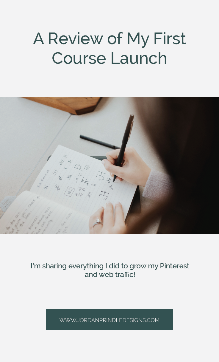 | I'm sharing what went right, wrong and ugly when I launched my first course. Read the full story at www.jordanprindledesigns.com #tailwindcourse #coursecreation #pinterestcourse