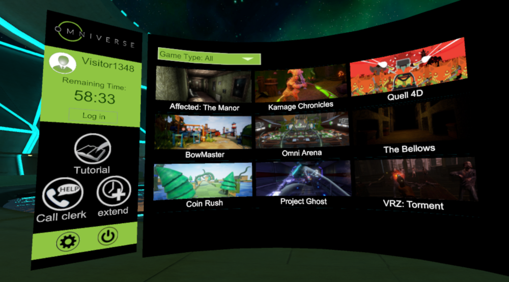 Omniverse - 15+ VR Games