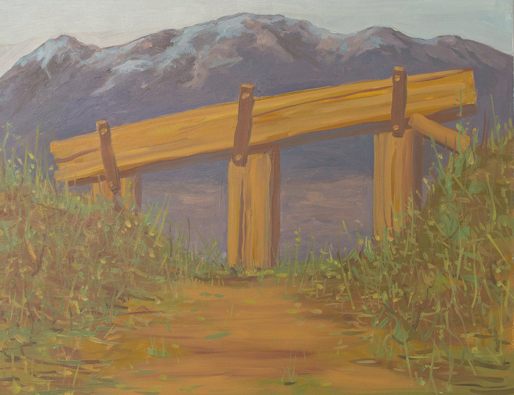 Gate, Oil on Panel 11 inches x14 inches 2017