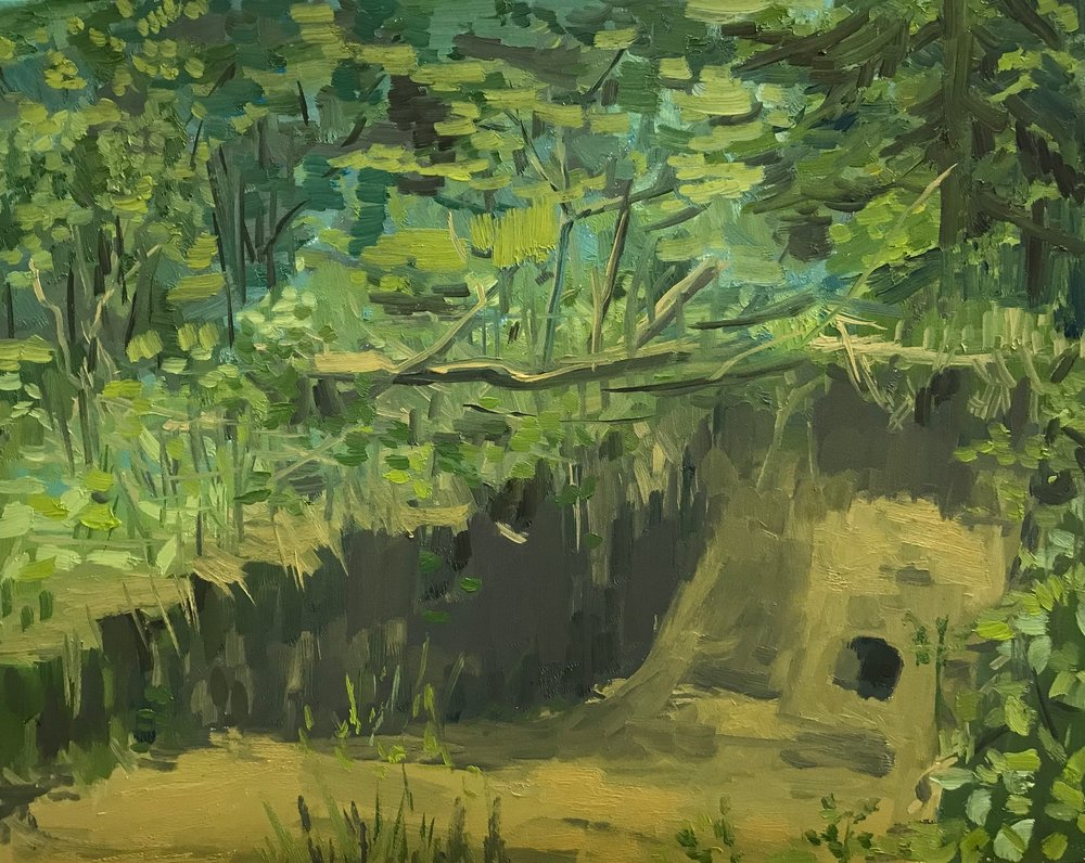 Ditch, Oil on Panel 10 inches x 12 inches 2018