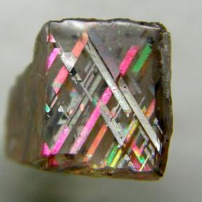 Iridescent magnetite in Moonstone
