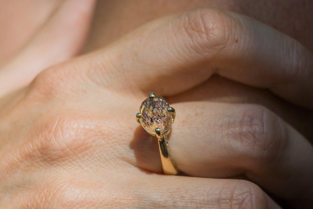 Rainbow Lattice Jewellery Ring