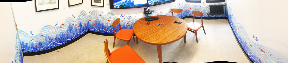 "Panorama of ""Sea Room"" in Redbubble's Office San Francisco, CA."