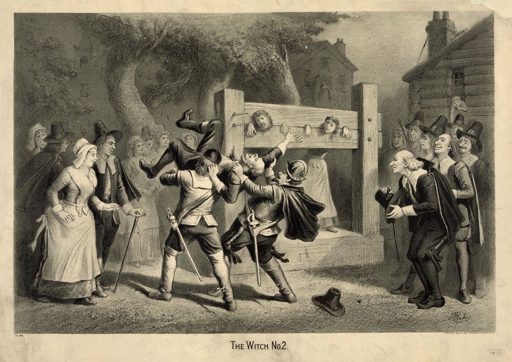 Depiction of the Salem Witch trials by Joseph E. Baker, published 1892
