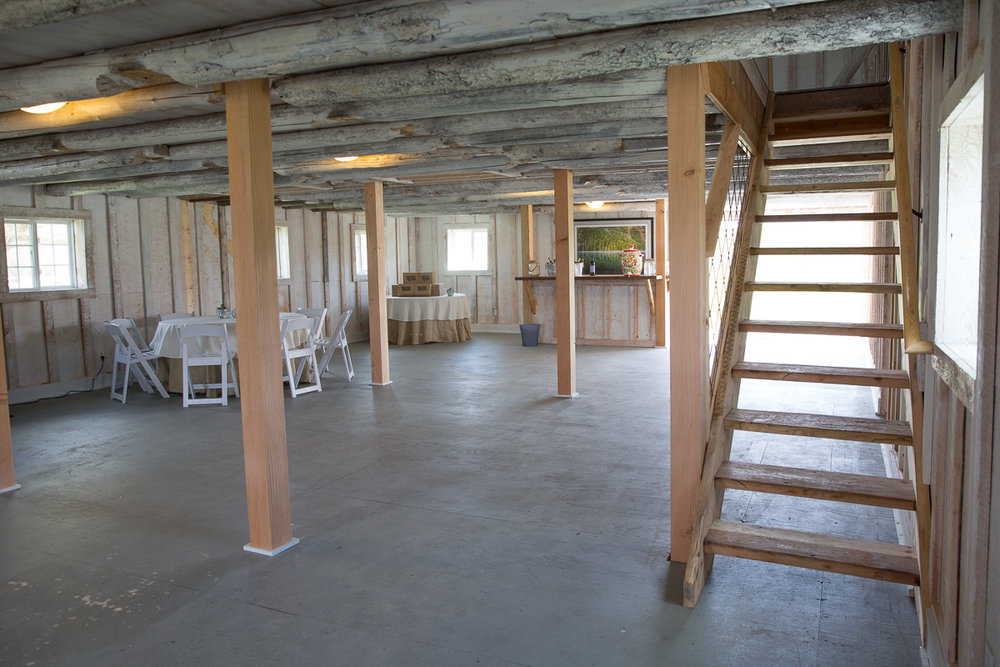 Downstairs of the Barn