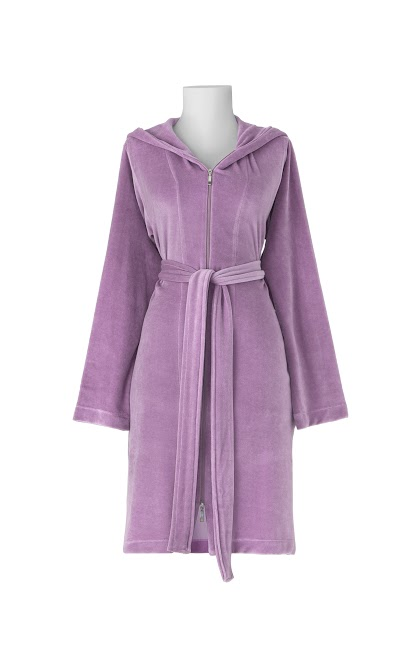 Ladies Zip Front Hooded Dressing Gown - Rose Pink — Chippi Hacki ...