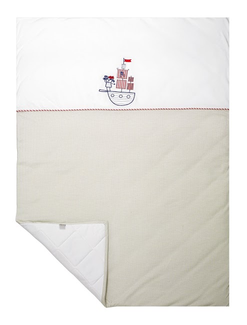 Baby Cot Quilt Cover - Neutral Nautical Pirate — Chippi Hacki ... : baby cot quilt - Adamdwight.com
