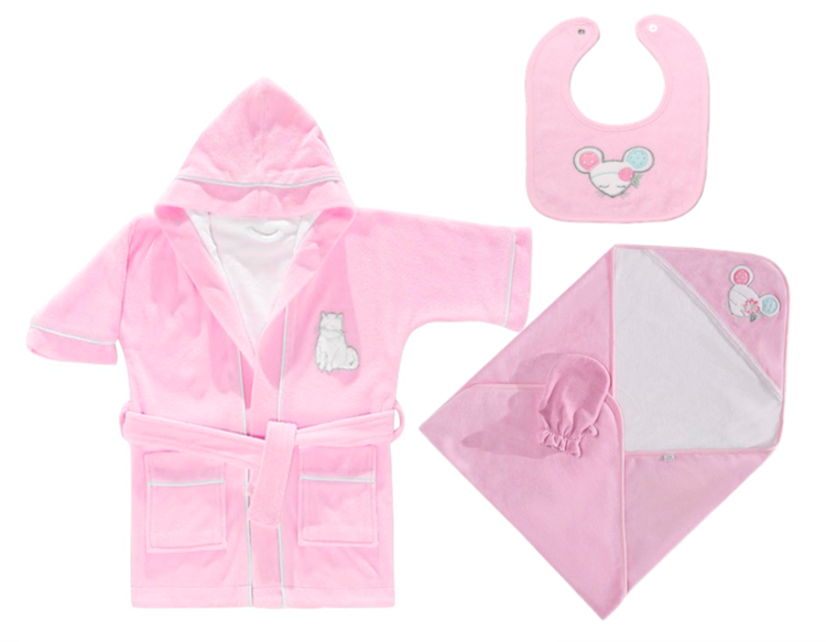 Baby Bath time Gift Set - Pink Mouse — Chippi Hacki - Baby Gifts ...