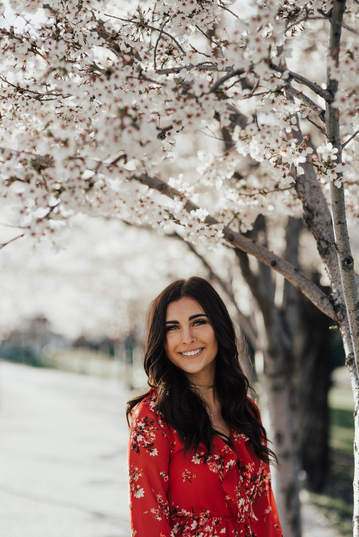 Utah State Capitol Blossom Senior Portraits