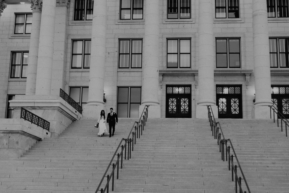 Utah State Capitol Bridal Photos