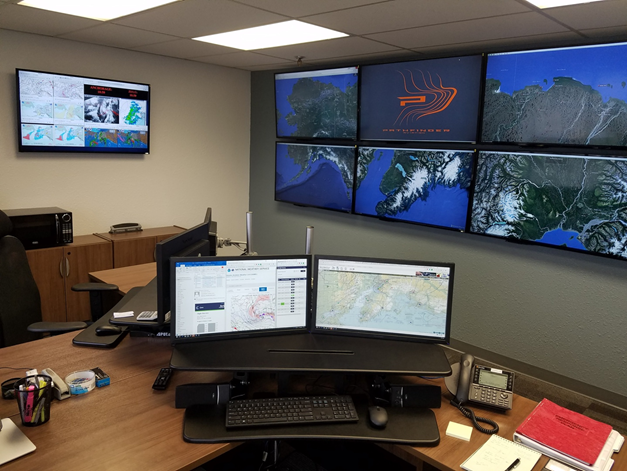 INTEGRATED AWARENESS - Pathfinder's Air Operations Center is staffed 24 hours a day, 365 days a year to track all Pathfinder flights and support pilots and crews in all operations.