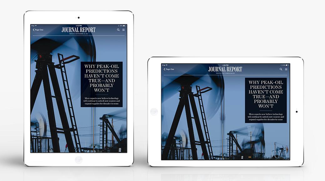 WSJ iPad App — CHARLENE TIEN