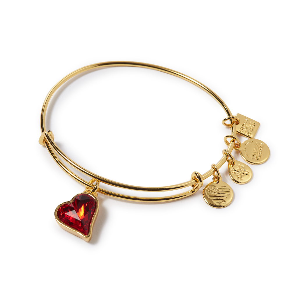 ALEX AND ANI HEART OF STRENGTH BANGLE: GOLD  $38.00