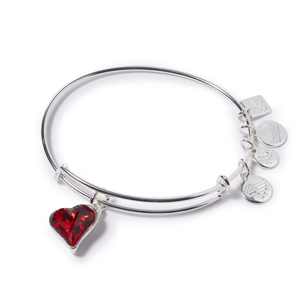 alex and ani heart of strength: silver  $38.00