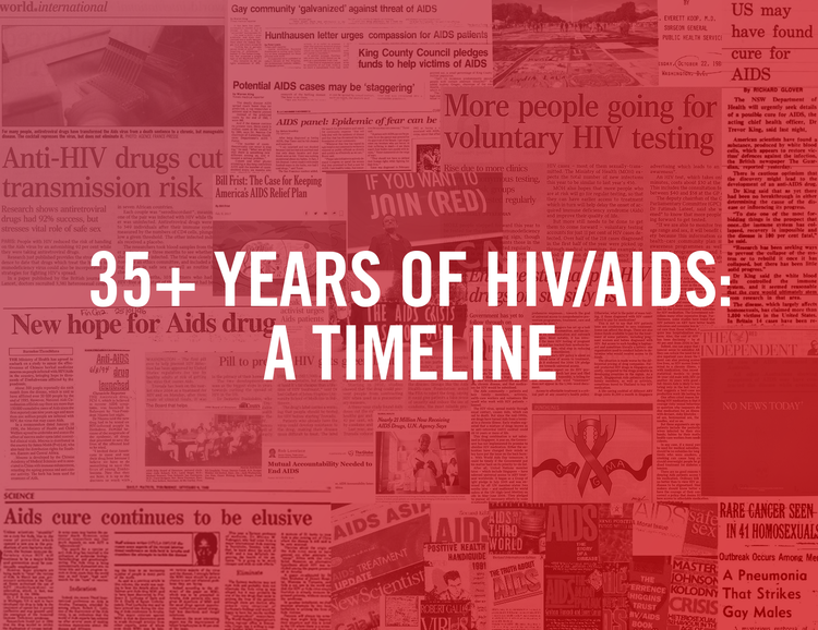 35+ Years of HIV/AIDS: a Timeline — (RED)
